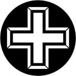 Standardstahlgobo Rosco 3D Cross 2 78066