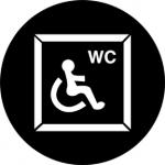 Standardstahlgobo Rosco Disabled WC 77673