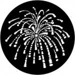 Standardstahlgobo Rosco Fireworks 1 77766 (Design by Jules Fisher)