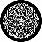 Standardstahlgobo Rosco Antique Rosette 77783 (Desing by Jules Fisher)