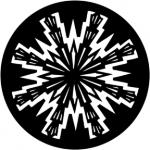 Standardstahlgobo Rosco Aztec Sun 77784 (Design by Jules Fisher)