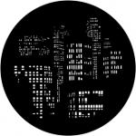 Standardstahlgobo Rosco City Lights 77786 (Design by Bob Mitchell)
