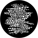 Standardstahlgobo Rosco Cobblestones 77787 (Design by Ed Wittstein)