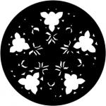 Standardstahlgobo Rosco Gothic Rose (Blue) 77885