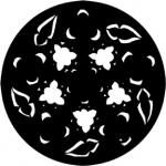 Standardstahlgobo Rosco Gothic Rose (Yellow) 77887