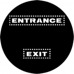Standardstahlgobo Rosco Exit/Entrance 77971