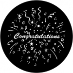 Standardstahlgobo Rosco Congratulations 77984