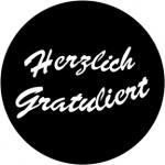 Standardstahlgobo Rosco Herzlich Gratuliert 78015