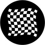 Standardstahlgobo Rosco Chequered Flag 1 78050