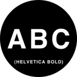 Standardstahlgobo Rosco Helvetica Capitals 78060