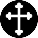 Standardstahlgobo Rosco Gothic Cross 78062