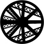 Standardstahlgobo Rosco Abstract Truss 78465