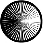 Standardstahlgobo Rosco Contrast 78474 (Design by Ken Michaels)