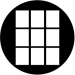 Standardstahlgobo Rosco 3x3 Fat 78487 (Design by Allen Lee Hughes)