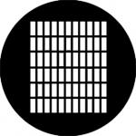 Standardstahlgobo Rosco Factory Window 78488 (Design by QVC)
