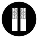 Standardstahlgobo Rosco Decorative Panes 78495 (Design by Nancy Schertler)