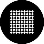 Standardstahlgobo Rosco Checker Tiles 78585 (Design by Tom Seeldraeyers)