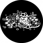 Standardstahlgobo Rosco Abstract Graffitti 2 78605