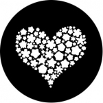 Standardstahlgobo Rosco Filled Heart 78658