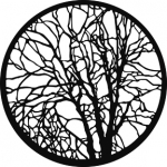 Standardstahlgobo GAM Design Bare Branches 216