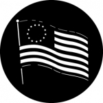 Standardstahlgobo GAM Design Bicentennial Flag 236