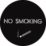 Standardstahlgobo GAM Design No Smoking 260