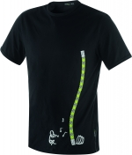 T-Shirt Edelrid Rope-T  Rope Charmer  schwarz
