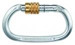 Stahl-Karabiner Edelrid Steel oval schraub  silber