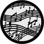 Standardstahlgobo Rosco Dancing Music  71020