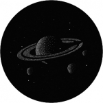 Standardstahlgobo GAM Design Saturn with Stars T25
