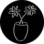 Standardstahlgobo Rosco Dainty Flowers 76574