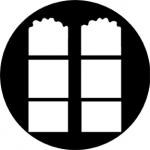 Standardstahlgobo Rosco French Windows 77143