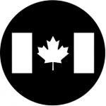 Standardstahlgobo Rosco Canadian Flag 77210  (Design by Leon Rosenthal)